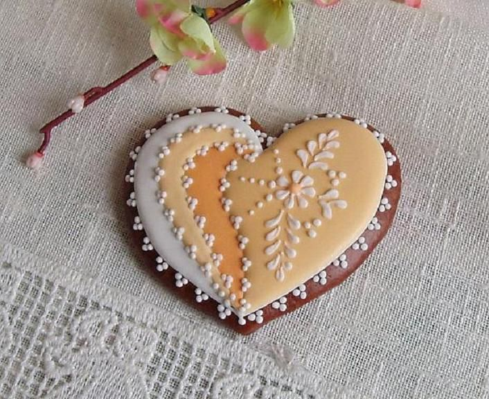 Heart Shaped Decorated Cookies
