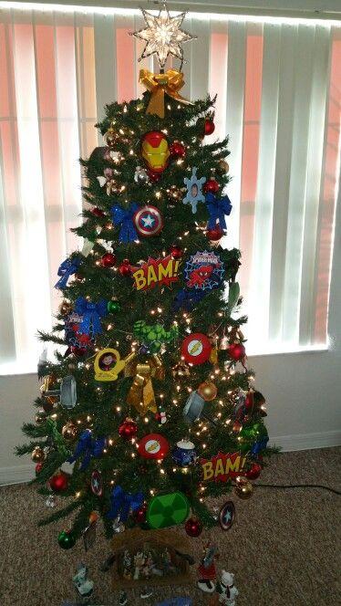Super Hero christmas tree :) work in progress! :)