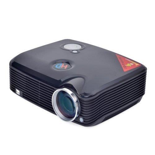 Vidéoprojecteur Sourcingbay SVGA 2600lms Projecteur LCD avec HDMI Tuner TV Entrée (PH5), Mini Home Cinéma Vidéo projecteurs de cinéma (Noir)