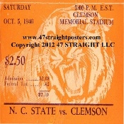 Clemson drink coasters, Clemson football ticket coasters.  Christmas football gifts! The best Christmas gifts for football fans! When you think football Christmas gifts, think 47 STRAIGHT.™ Our football ticket coasters are printed in the U.S.A. and ship within 24 hours. Made from historic football tickets. Best Christmas football gifts in America! http://www.christmasfootballgifts.com/ Christmas football gifts!