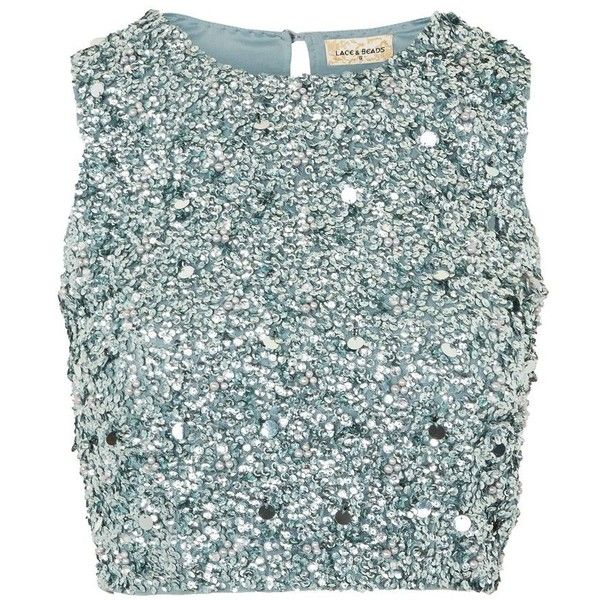 Picasso Top By Lace Beads 975 Zar Liked On Polyvore Featuring Tops Teal Sequin Top Beaded Crop Top Z Beaded Crop Top Sparkly Crop Tops Green Lace Top