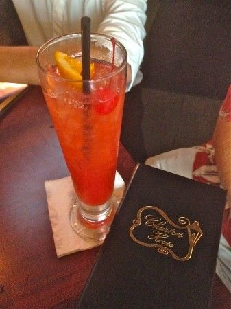 chartres house hurricane--twist on a classic using cherry vodka