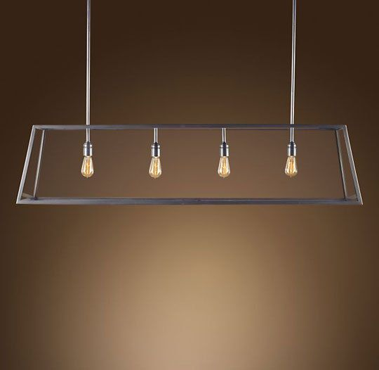 industrial lighting via apartment therapy