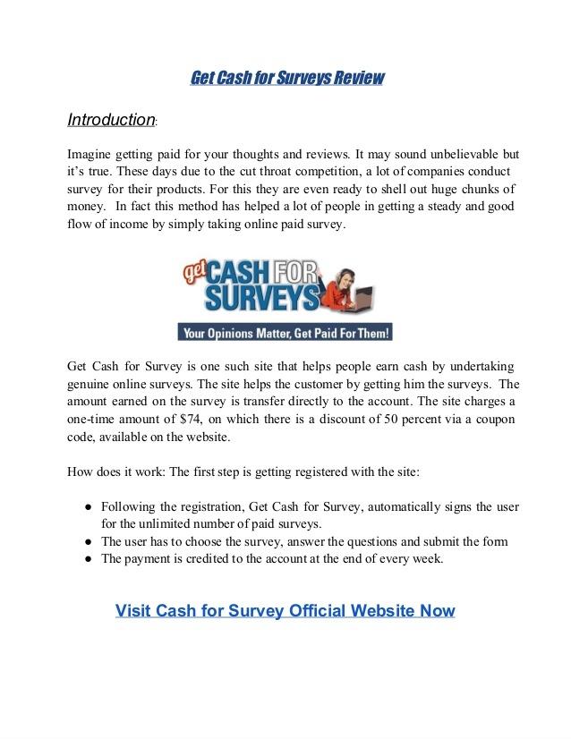 Get cash for surveys review | money is great | Pinterest