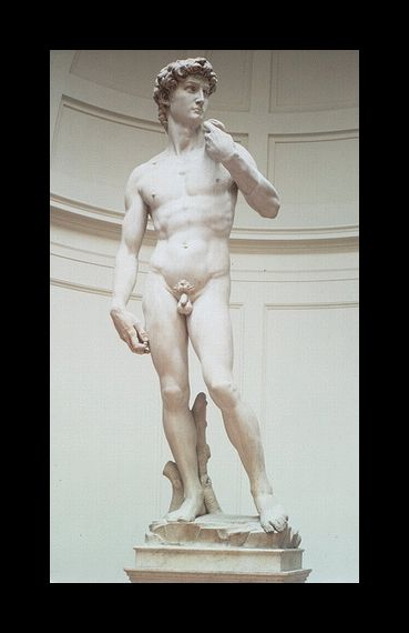 DONATELLO David 1446 Italy; placed in front of Florentine Government Palace, idealizes male figure HIGH RENAISSANCE