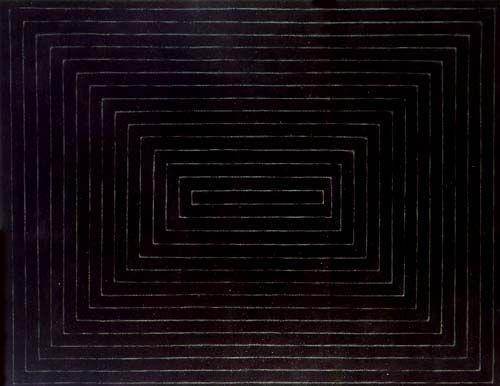 The black paintings 1959 frank stella black art for Minimal art frank stella