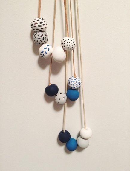 #DIY clay bead necklaces