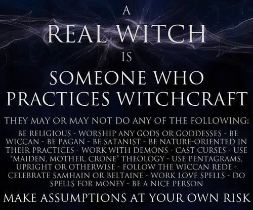 "There are many Paths for a Witch. Just because one doesn't walk the way you think they should, doesn't make them less of a witch than you!  We ask for tolerance and acceptance from the ""outside world"" we should give it to our own!"