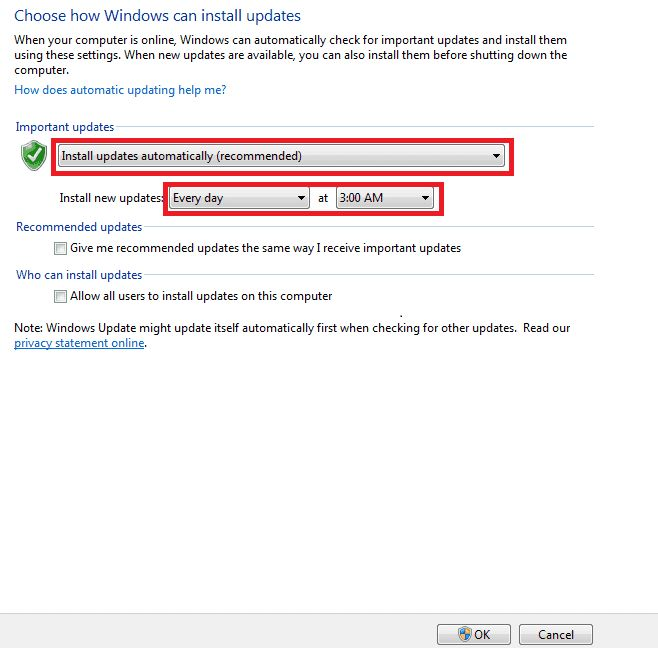mengaktifkan windows update