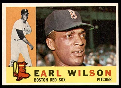 Valuable Red Sox Baseball Cards 1960 Topps Earl Wilson Rookie Card