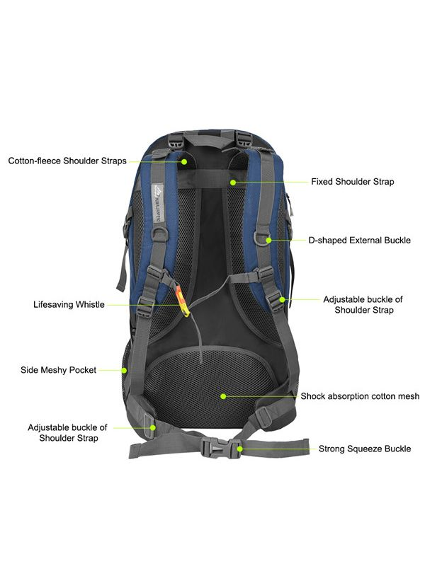 06b4090496 Vbiger 60L Waterproof Backpacking Pack Outdoor Sport Daypack for Climbing