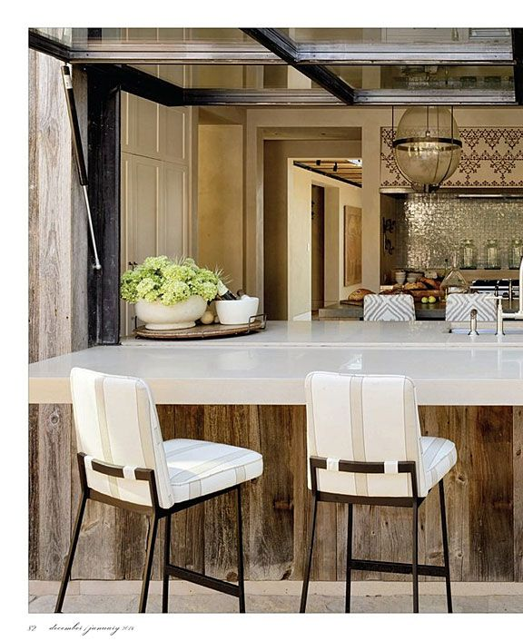 indoor outdoor, barstools Erin Martin Design - Press and News