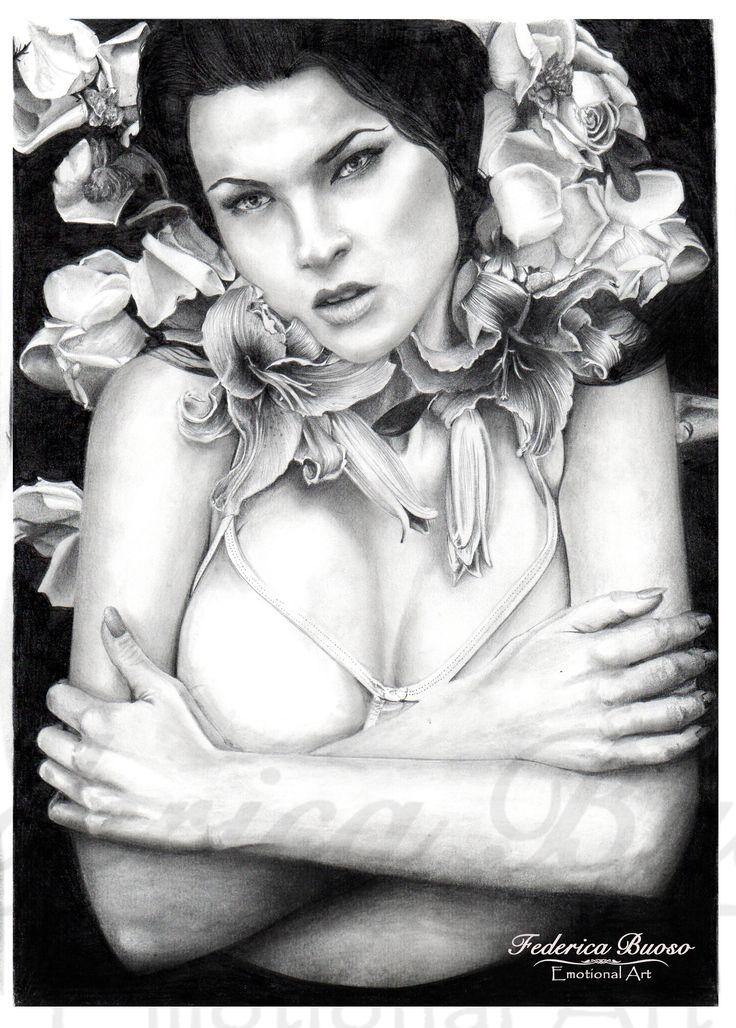 """""""Giglio"""" - Matita su carta formato A4  (2011) foto originale di  David Terrazas   Le donne sono come i fori. Vanno colte con delicatezza e piantate nei giardini di chi le sa amare, apprezzare e prendersi cura di loro, perché basta anche solo la mancanza di rispetto per farle appassire. Ricordate, la vera violenza non sono le ferite create sulla pelle, perché ogni livido, ogni graffio, ogni lacrima versata da quella donna non è altro che il riflesso di una ferita più profonda nel suo animo."""