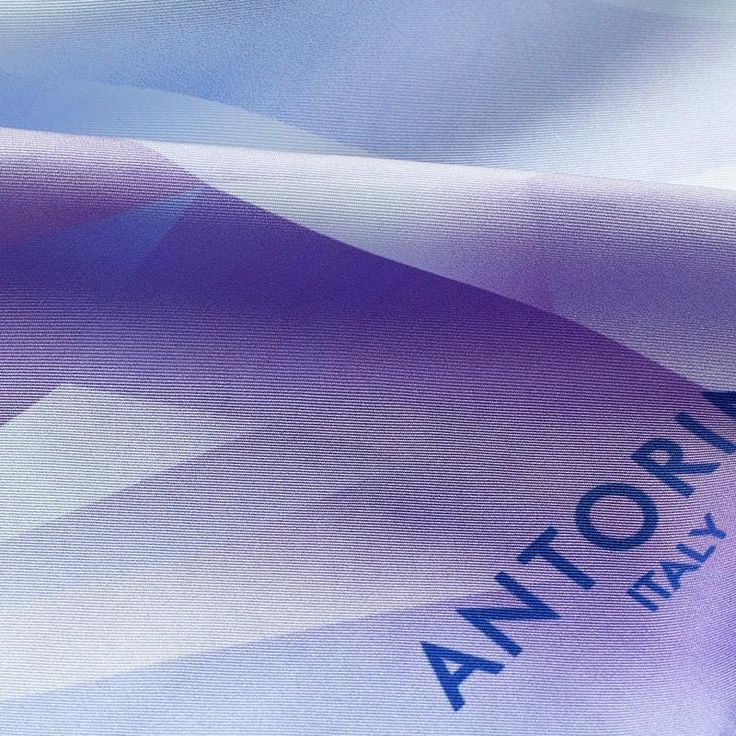 Silk Scarf ANTORINI Crystal World, Ice Violet