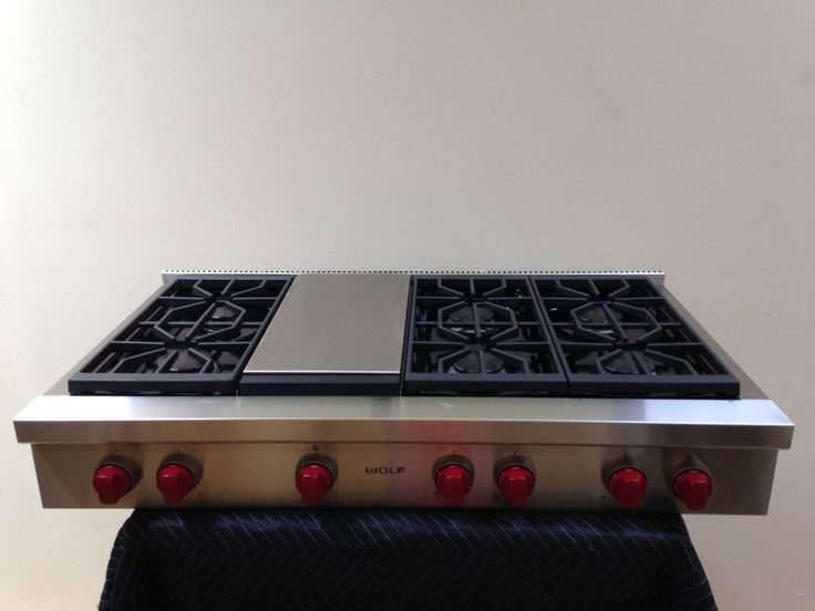 Wolf Srt486g 48 Gas Range Top 6 Burners With Griddle