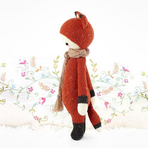 FIBI o lalylala raposa amigurumi padrão de crochet por lalylala