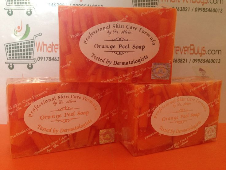 Orange Peel Soap(Professional Skin Care Formula by Dr. Alvin)  available on WhateverBuys.com - FREE SHIPPING NATIONWIDE