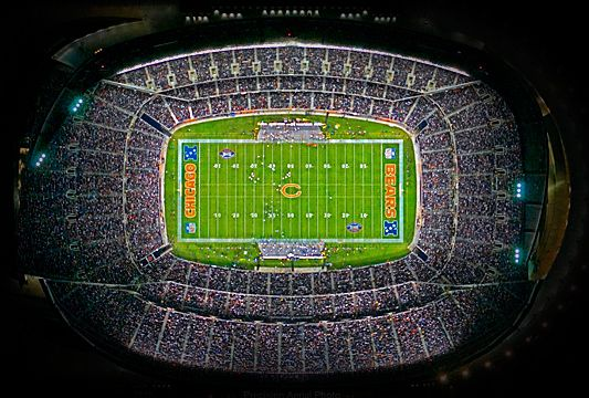 Soldier Field, Chicago, IL. I went to a Monday Night Football game here on Sept. 29, 2003. Bears vs. PACKERS!