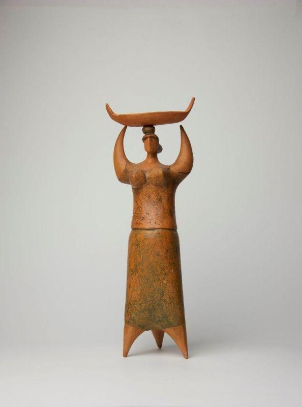 Sem Titulo 169)33 Varina com canasta 1962 Terracota 30cm x 15,5cm x 9cm #JorgeVieira #sculpture #SaoMamede #art #drawings #visit #lisbon #gallery