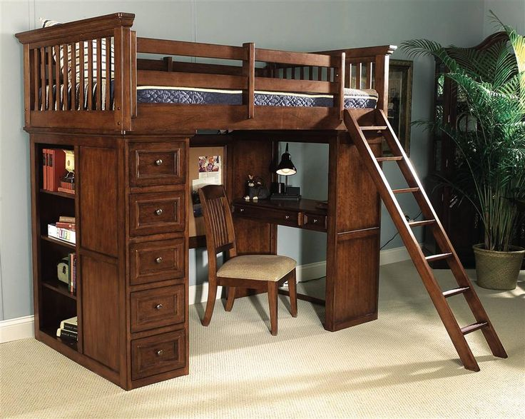 Loft Bed Desk, Bunk Bed With Desk, Bunk Beds With Stairs, Bed In, Loft Bed  Frame, Desk Chair, Bed Frames, Junior Loft Beds, Kids Bedroom