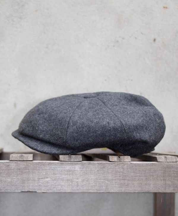 Grey Melton Wool Cap 8 Piece Soft Woollen Cap by Christys/' of London