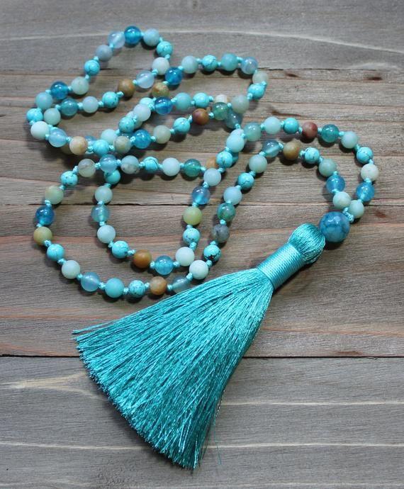 Amazonite Necklace Amazonite Mala Beads Amazonite Mala 108 Mala
