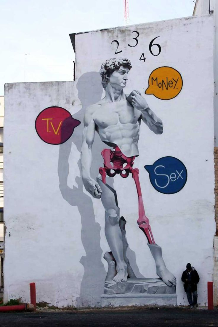 Man o Matic street art: David, Huelva, 2015