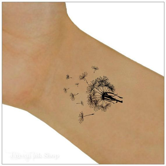 Tatuaggi polso tarassaco tatuaggio temporaneo 2 di UnrealInkShop