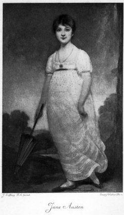 English novelist Jane Austen (16 December 1775 - 18 July 1817)