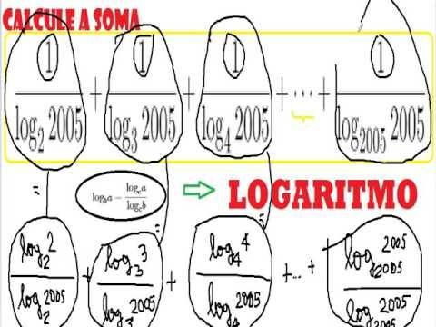 Logaritmos Exercícios resolvidos Problemas com soluções Propriedades do ... https://youtu.be/oqVLEsqqrG8