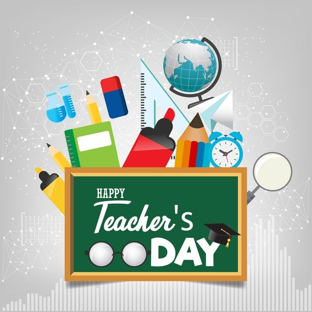 Happy Teacher S Day Template For Poster Or Banner Concept Vector And Png Happy Teachers Day Teachers Day Painting Teacher