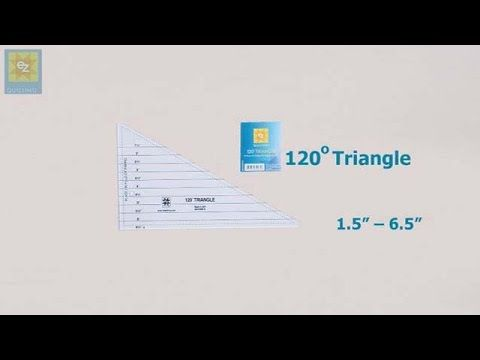 How to use the EZ Quilting 120 degree triangle with Jennie Rayment