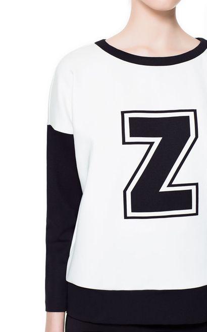 Czarno-biała bluzka - Zara
