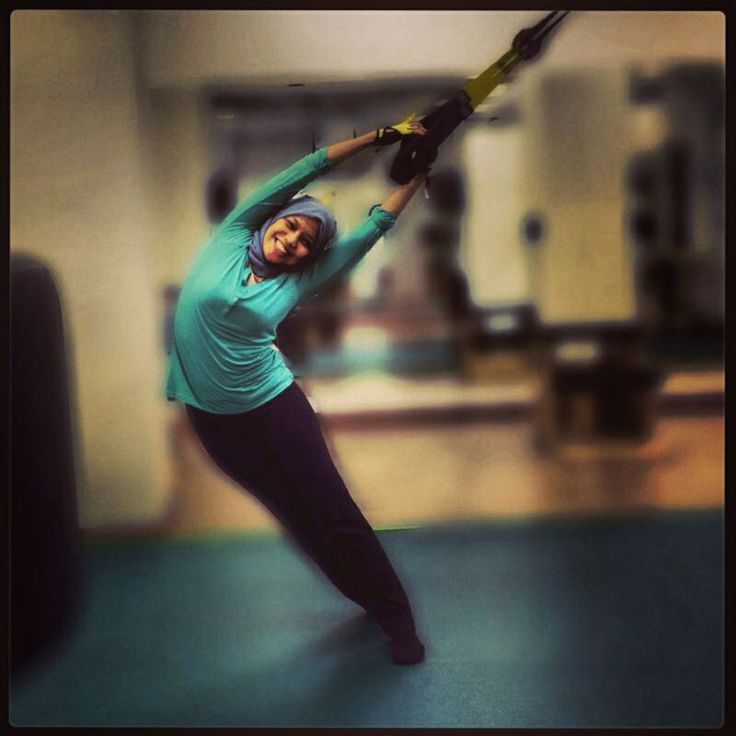 stretching on a trx #pilates