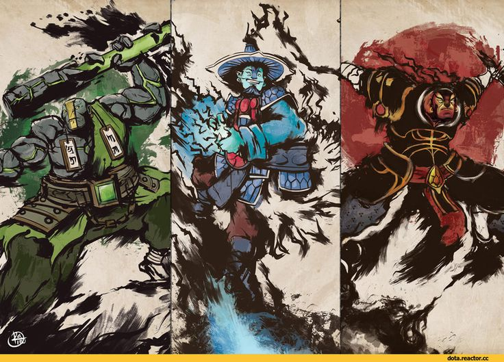 Dota,фэндомы,ChaosRaymond,Dota Art,Yurnero the Juggernaut,Kaolin the Earth Spirit,Xin the Ember Spirit,Raijin Thunderkeg the Storm Spirit,песочница