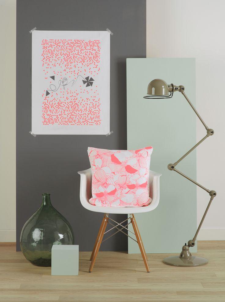Collection MOSAÏC rose fluo photos : Betty studio mise en scène : les Ambiances d'isa
