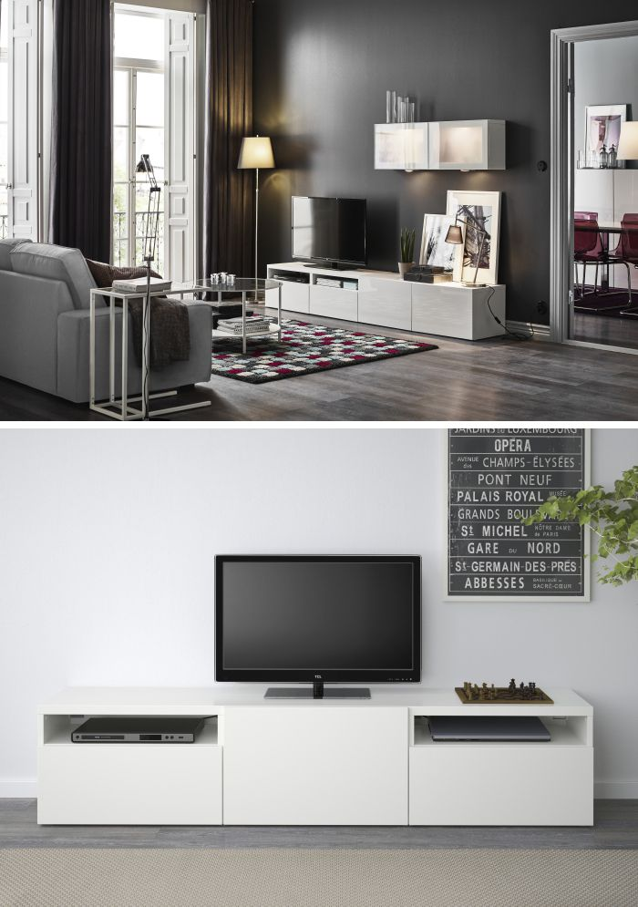 Customize Your Living Room Entertainment Center With The BESTÅ System! IKEA  BESTÅ Can Grow And