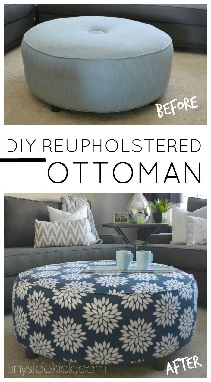 How To Reupholster An Ottoman Beautiful Ottomans And