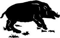 Wildlife Boar Hunting Sticker STOA #1 Wild Hog Decals
