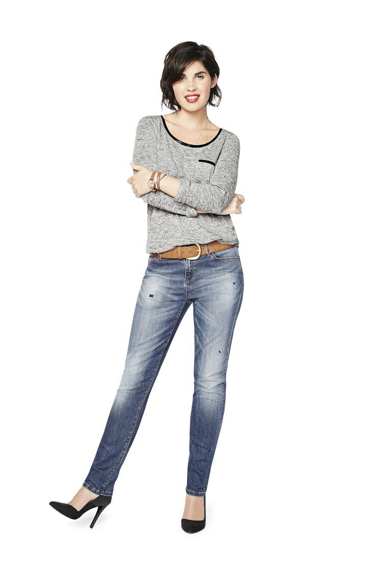 Skinny jeans: They say that in life, you get two great loves. Does a right and left leg count? Meet your skinny soul mate. When it's stretchy, sexy, comfy love at first try, you know it's right. You + skinnies = forever.