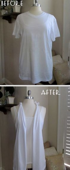 23 Life Hacks Every Girl Should Know - Use Old Tshirt to Make Vest - Life Hacks and Creative Ideas