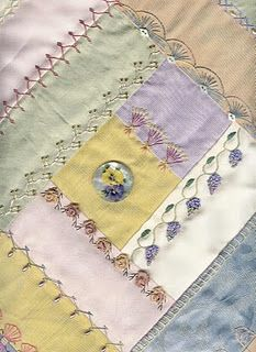crazy quilt idea, make use of the fancy stitches my machine does