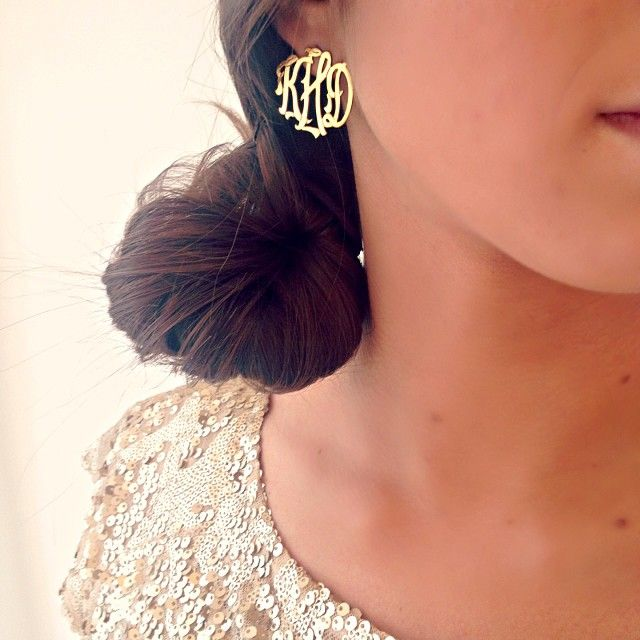 the most perfect monogram earrings.