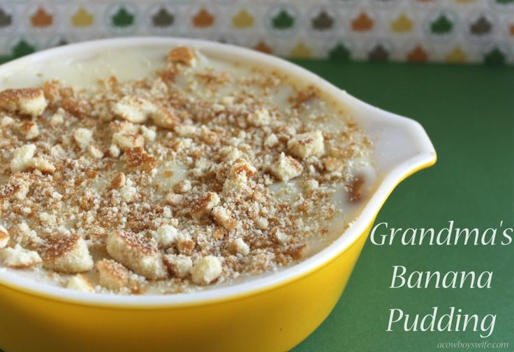 Grandma's Banana Pudding from scratch….there just aint' nothin' like this out there that tastes so good! This is the most requested food dish that family members ask me to bring to holiday get-togethers and any other time I can. My grandmother made some of the best treats ever and this ranks #1 on my list. …