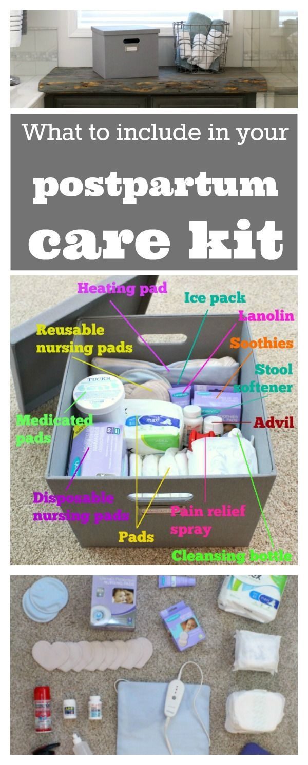 Postpartum essentials: Check out this article for a great list of which postpartum supplies to include in your care kit and which ones not to spend your money on.
