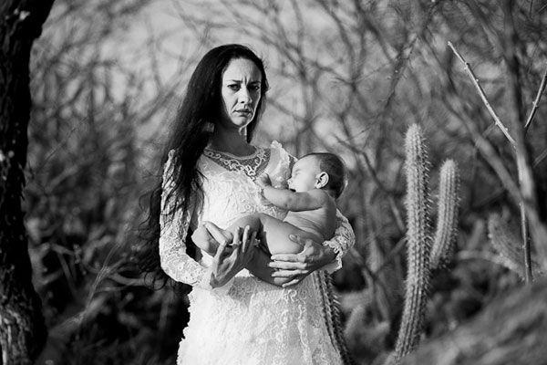 mulher do sertão vestida de sonhos - Véu do sertão - exposição