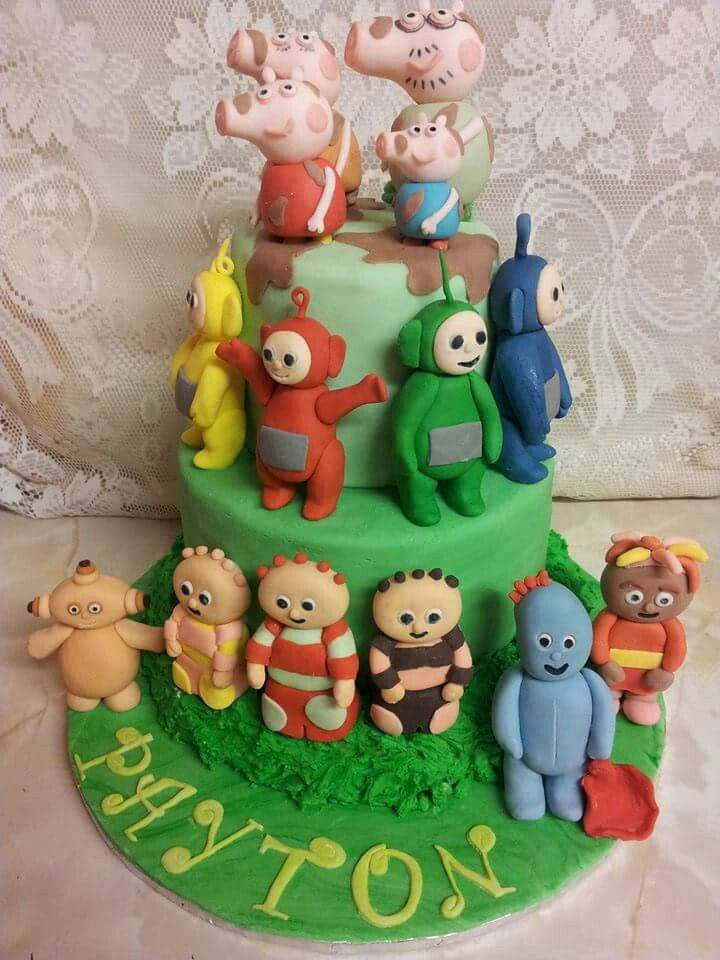 Teletubbies Icing Figures For Cakes