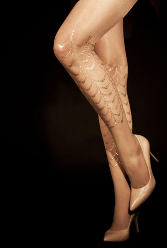 Mermaid gold leggings