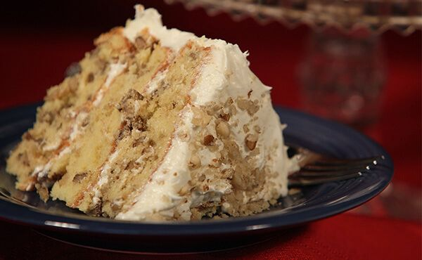 Hammons Black Walnuts – Fancy Black Walnut Cake; Create a Missouri State Fair favorite fit for any occasion in your own home using the bold flavor of Black Walnuts.