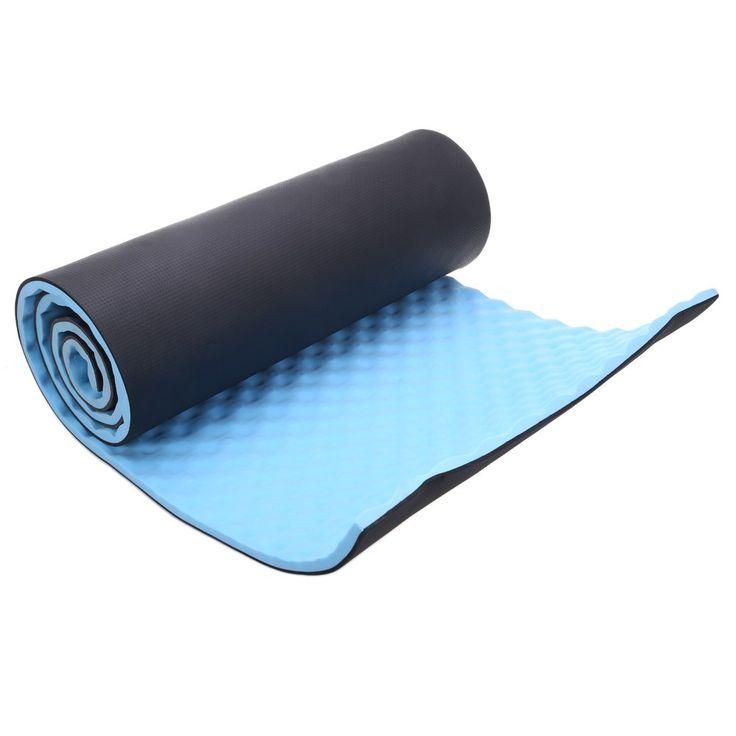 1.5 cm dikke yoga mat enkele outdoor oefening slapen camping yoga mat met carrying bandjes evp blauw utility yoga matten fitness